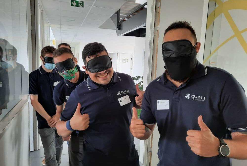 Brochet-Formation déploie avec succès une nouvelle expérience collective de Serious Game stratégique «Sécurité au travail» pour former différemment les équipes de la pme DRA-Technologies !